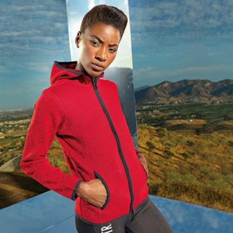 Women's TriDri® melange knit fleece jacket